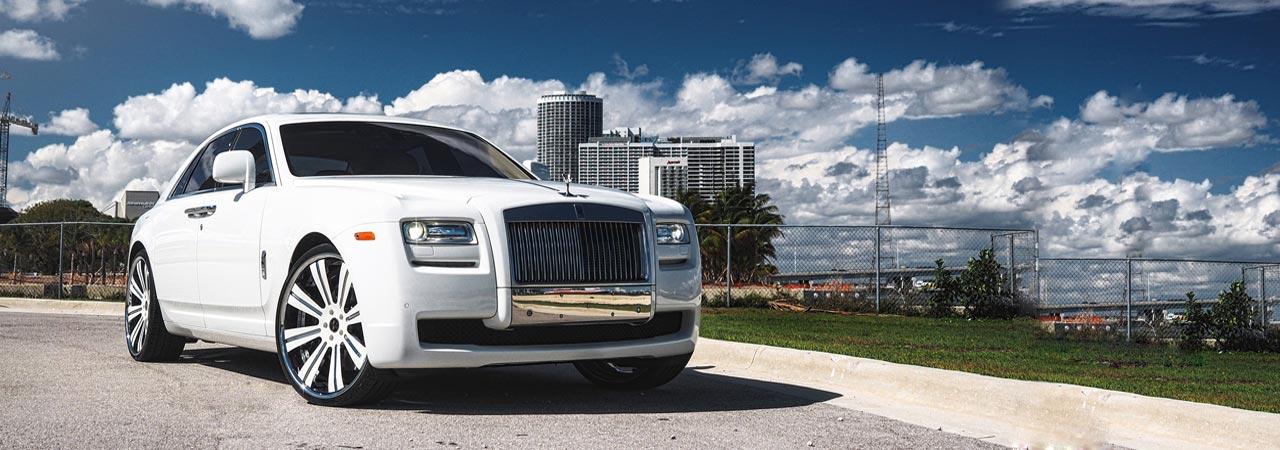 White Rolls Royce Chaufeur